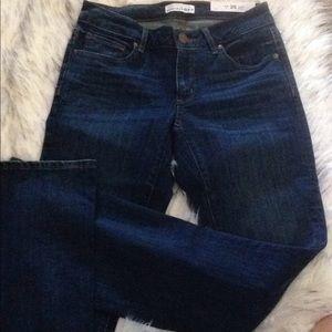 new tag loft dark women boot cut jeans  25 0 curvy